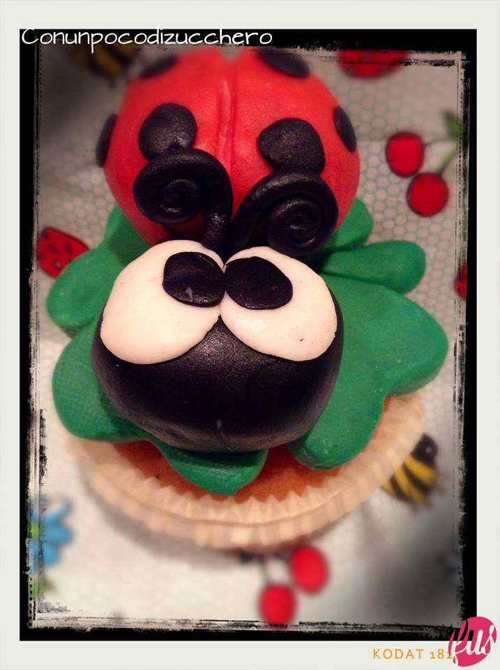 Ora è davvero finito! Se vi va appoggiate il tutto su un bel cupcake alla vaniglia come ho fatto io.     E con questo è tutto ora provateci voi. Good Luck!