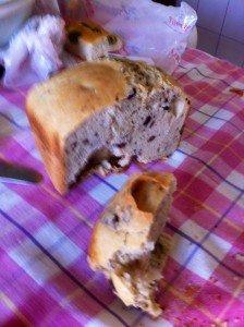 Il nostro primo pane, con le olive.