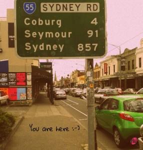 Una delle vie principali di Melbourne...infinita!