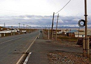 Nei pressi del bivio tra la M41 (strada del Pamir verso il Tajikistan) e la A371 (strada per Irkeshtam, confine Cina)
