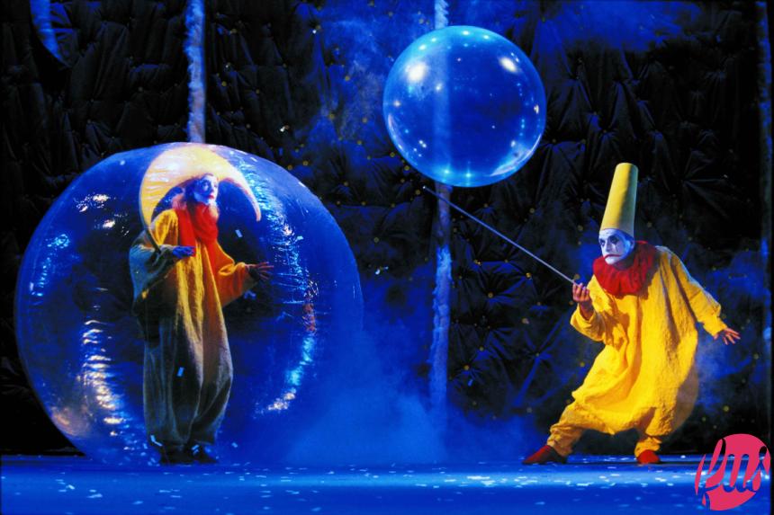 2 clown nella bolle-foto di Veronique Vial ridotta