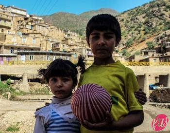 Due bambini del villaggio. Palangan, Kurdistan iraniano