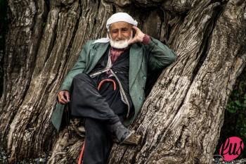 Ricordi del Kurdistan: un pastore curdo nel Kurdistan turco