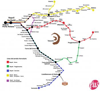 Mappa-Circumvesuviana