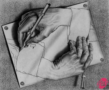 Escher Drawing-hans