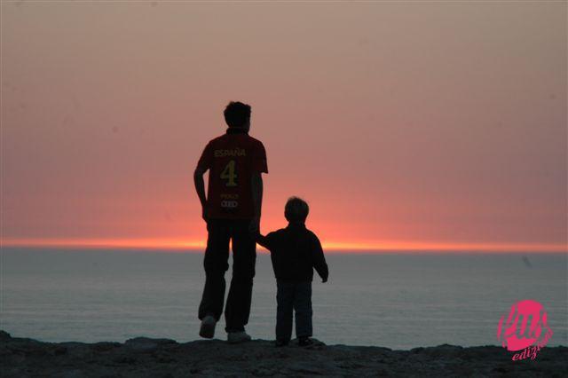 tramonto-padre-figlio