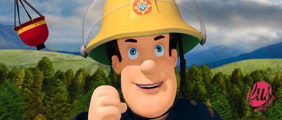 Set di personaggi dei cartoni animati di pompieri teddy bears