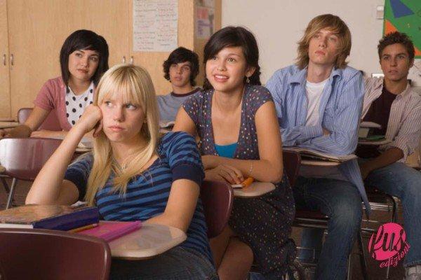 Bored teenage girl in classroom