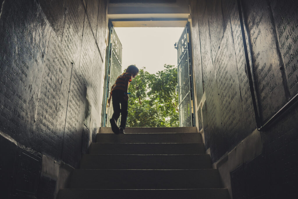 climbing stairs - Autore jeswin