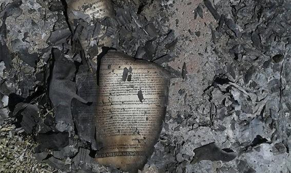 pagina bruciata